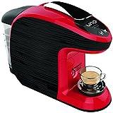 Hotpoint CM HB QBR0 Macchina per Caffe Espresso, 1300 watts, 0.85 Litri, Nero / Rosso