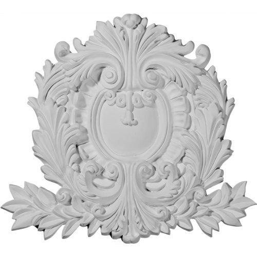 Ekena Millwork ONL06X04X01FL 4-Inch W X 6-Inch H X 5//8-Inch P Fleur-De-Lis Large Onlay