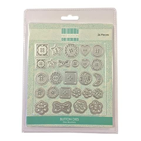 First Edition Metal Crafting Dies - Buttons (Magnetic Storage)