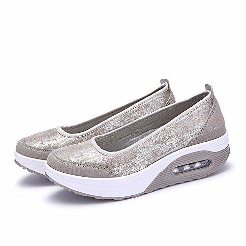 Zapatillas de Mujer de BaZhaHei, Malla Tejida Tejida Calzado...