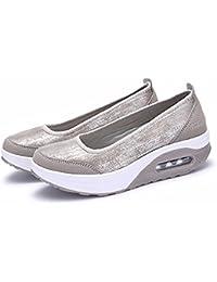 Zapatillas de Mujer de BaZhaHei, Malla Tejida Tejida Calzado Deportivo Casual Zapatos de Suela Gruesa Zapatillas Deportivas de Malla al Aire Libre para Mujer Zapatillas Deportivas de Malla Gruesa