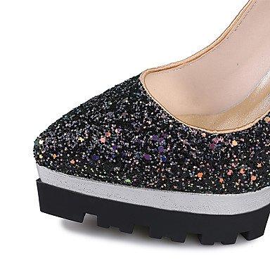 LYNXL Talloni delle donne Primavera Estate Autunno Inverno Club scarpe personalizzate Materiali da festa di nozze e abito da sera con paillettes tacco a spillo Orange