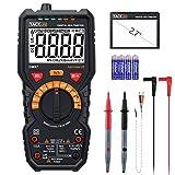 Multimeter Tacklife DM07 Digital Autorange 6000 Counts True RMS für AC DC Spannung Strom Widerstand Durchgangsprüfung Temperatur mit Großer LCD Bildschirm Hintergrundbeleuchtung