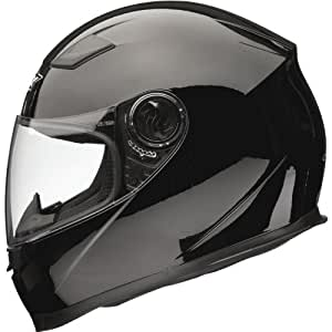 Shox Casque de moto solide noir Gloss Black XS