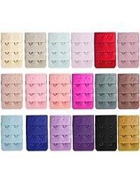 18 PCS Extension de soutien-gorge,Vococal® Extension Bra à 3 rangées 2 crochets,Multicouleurs soutien-gorge accessoires