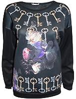 (P) New Ladies Printed Slogan Print Winter Pullover Jumper Sweater Sweatshirt Top