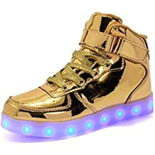 ByBetty Adultos Zapatillas LED Mujer Hombre 7 Colores Zapatillas con Luces LED EU 38-46