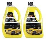 2x MEGUIAR'S MEGUIARS Ultimate Wash & Wax Autoshampoo Shampoo Wasch und Wachs Autopflege Fahrzeugshampoo für Autopflege Autowachs Fahrzeugwachs Ultimative Produkt zur Autowäsche 1420 ml