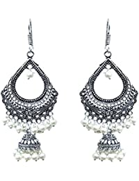 Waama Jewels White Pearl Dangle And Drops Earring For Women Office Wear Earring Boho Jewlellery Latest & Fancy...