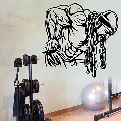 enkette Bodybuilding Gym Fitness Kunst Wand wohnkultur wandaufkleber Vinyl DIY abnehmbare Sport Flugzeug tapete m 43x42 cm ()