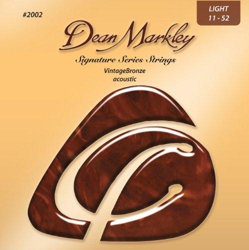 Dean Markley VintageBronze Acoustic LT 2002 - Juego de cuerdas para guitarra acústica de bronce, 11-46