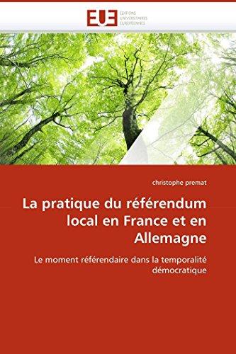 La pratique du référendum local en france et en ...