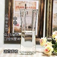 ZHFC-Minimalista, moderno florero de cristal transparente decorado flor grande Lily fuguizhu hydroponic florero