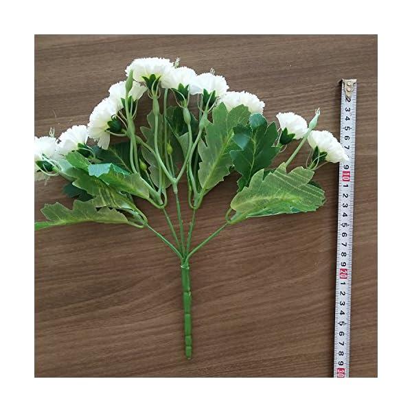Flores Artificiales MZMing [4 piezas] Mejor Regalo 10 Flor Artificial de Clavel Flor de Seda Artificial Arbusto de Boda…