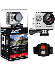 AKASO EK7000 4K Sport Action Camera Ultra HD Camcorder 12MP WiFi Waterproof Camera 170 Degree Wide View Angle 2 Inch LCD Screen W/2.4G Remote