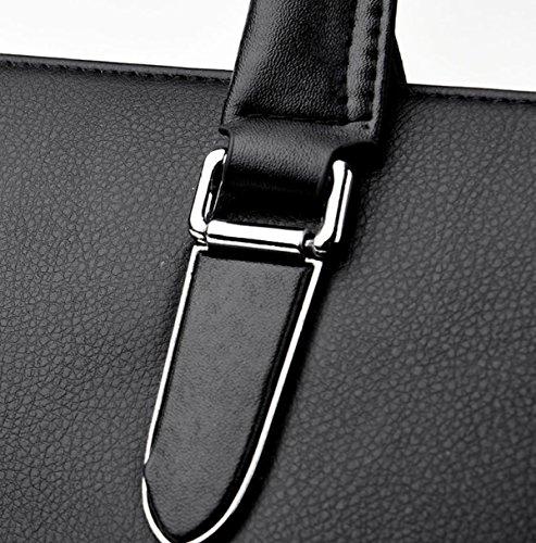 Strukturierter Tempera Mode Wilde Einfache Elegante Quadratische Tasche Einzelne Schulterbeutel Für Mann Black