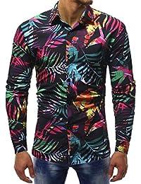4f9dc117fb Amazon.es  flores estampado - Camisas   Camisetas