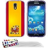 Muzzano - Carcasa para Samsung Galaxy S4 Advance (ultrafina), diseño de bandera de España morado con la bandera española + 3 protectores de pantalla