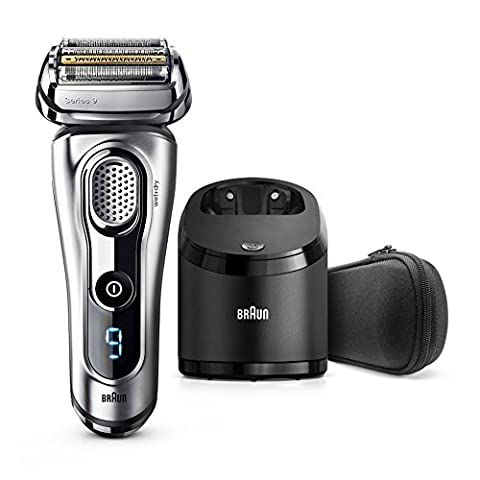 Braun Series 9 9290cc Men's Electric Foil Shaver, Wet and Dry with Clean and Renew Charge Station, Pop Up Trimmer, Rechargeable and Cordless Razor and Travel Case -