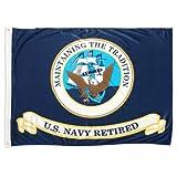 Online-Shops US Navy Retired Superknit Polyester Flagge, 3von 4Füße