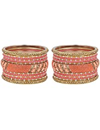 Much More Marvellous Gold Tone Bangle Set With Designer Kada Partywear Jewellery