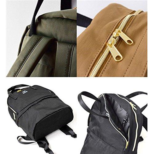 Unisex Japanischer Art-Rucksack-wasserabweisendes Polyester-Tuch-Spielraum-Rucksack 2 Schichten Multifunktionsspeicher-Rucksack-neue Handtasche Mehr Taschen Schultasche Navyblue
