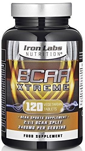 x 120 Tabletten | Ultimate BCAA Tabletten für mehr Leistung | 2400mg Tägliche Dosis - Vegetarische Tabletten - 30 Tage Vorrat (Film-tablette)