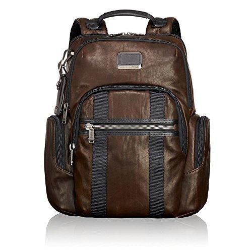 "Tumi Alpha Bravo - Nellis Laptop Backpack 15"", Leather Zaino Casual, 40 cm, 22.28 liters, Marrone (Dark Brown Leather)"