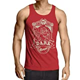 N4346V Camiseta sin Mangas Cerveza Oscura (X-Large Rojo