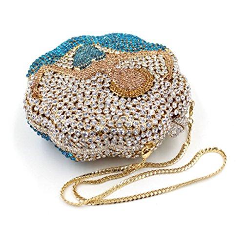 Frauen Hochwertige Tasche Diamant Abendtasche Luxus Bankett Tasche Hand OneColor