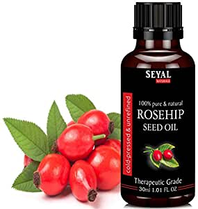 Seyal Rosehip Seed Oil 100% Pure & Natural Therapeutic Grade Organic Cold Pressed Unrefined (30ml)