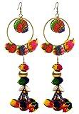 #9: Crunchy Fashion pom pom/pompom Earrings Combo for Girls Fancy Party Wear Earrings for Women