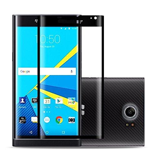 Bildschirmschutz aus gehärtetem Glas für Blackberry Priv, 3D vollständige Abdeckung, blasenfrei, 9H Härte, kratzfest