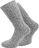 4 Paar Norwegersocken wie Handgestrickt, Dick und warm! in verschieden größen wählbar Farbe Grau Größe 39/42