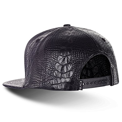 Blacksmith & Co Casquette Snapback Black Label 5.0 Noir effet Croco