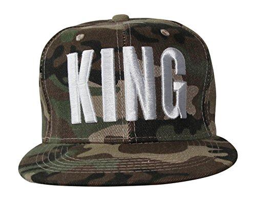 Army Tarn Snapback Cap Caps mit Tarnmuster Camouflage Bundeswehr (King)