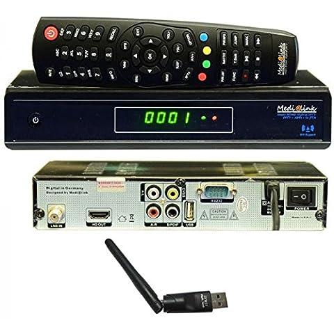 Medi@link Smart Home Hybrid DVB-S2 FTA + IPTV Digital Sat Receiver FullHD 3D Medialink Media@link + Medi@link IXUSS USB WiFi WLAN Adapter Stick 150 Mbit/s Medialink