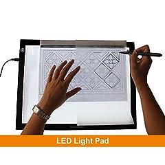 Idea Regalo - GAOMON B4 Size LED Tavoletta Luminosa 5MM Ultrasottile Pad Luce Art USB Tracing Consiglio per Sketch e Copia - GB4