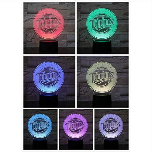 s Nachtlicht Led USB MLB Baseball Team Logo 7 Farbwechsel Touch Sensor Kind Kinder Tischlampe Decor Schlafzimmer ()