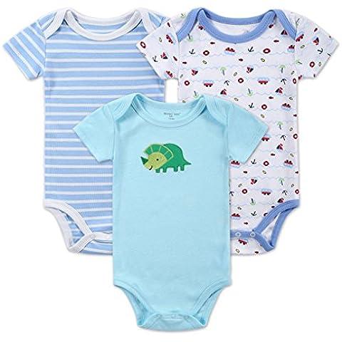 Vollter 3pcs/set Maniche corte Hanging tute baby una vestiti indumento del bambino Ha - Hanging Vestiti Del Bambino