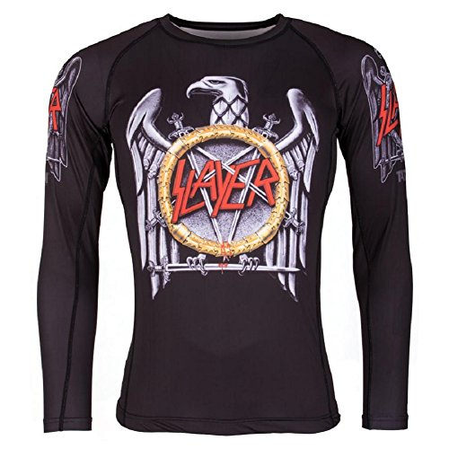 Tatami Rashguard Slayer Eagle - Rash Guard BJJ MMA Grappling Kompression Funktions Shirt Top Herren (L)