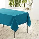 Douceur d'Intérieur Essentiel Nappe Polyester Uni Bleu 140 x 250 x 250 cm