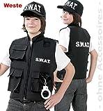 KarnevalsTeufel Kinder-kostüm SWAT Weste Spezialeinheit Police Officer Security (140)
