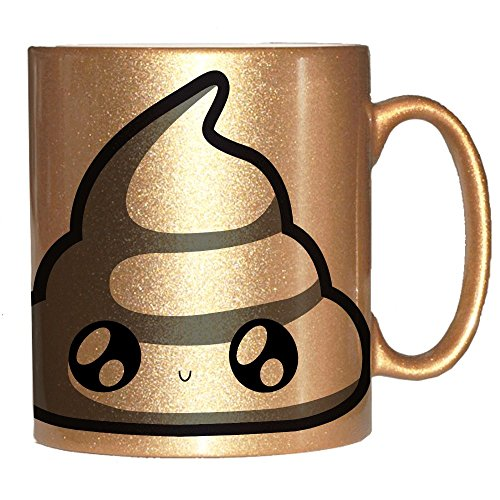 Mug doré caca chibi et kawaii / Golden poo - Fabriqué en France - Licence officielle Pouny Pouny - Chamalow shop