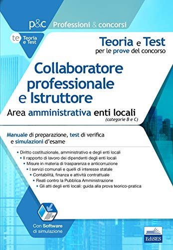 Collaboratore professionale e istruttore area.
