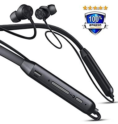 Bluetooth Headphones CCK Neckband Wireless Earbuds Sports Best Running Earphones Hi-Fi Stereo Noise Cancelling Sweatproof for Gym Workout Exercising Fashionable In Ear Headsets 12 Hours Playtime for Computer iphone Android?Black )