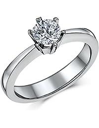 50d497582 Engagement Ring Classic Titanium 6 Prong 0.90ct Solitaire Engagement Ring