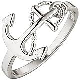 JOBO Damen Ring Anker 925 Sterling Silber Silberring Ankerring Größe 60