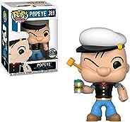 Funko Popeye (Specialty Series): Popeye x POP! Animation Vinyl Figure & 1 POP! Compatible PET Plastic Grap