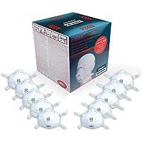 Atemschutzmaske FFP3 (10 STK.) in absoluter Premium-Qualität | Exzellenter Atemschutz bei optimalem Sitz | Einweg Feinstaub Maske (Halbmaske über Mund und Nase) von Clean Breath®
